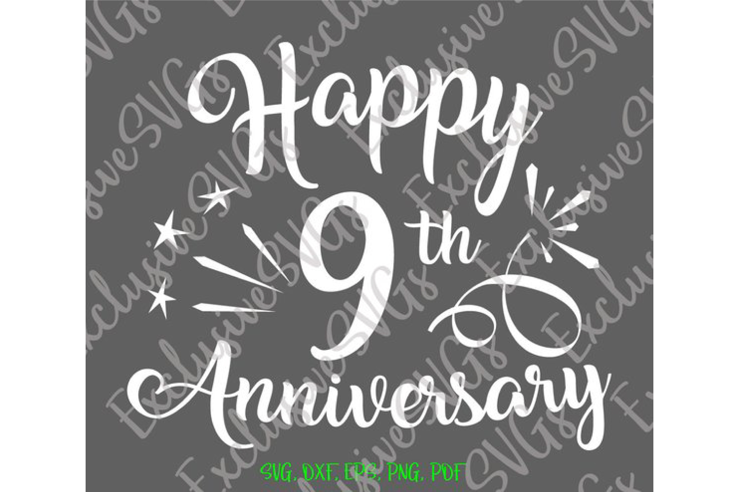 Happy 9th Anniversary Nine Year Pottery Copper Wedding Sign example image 4
