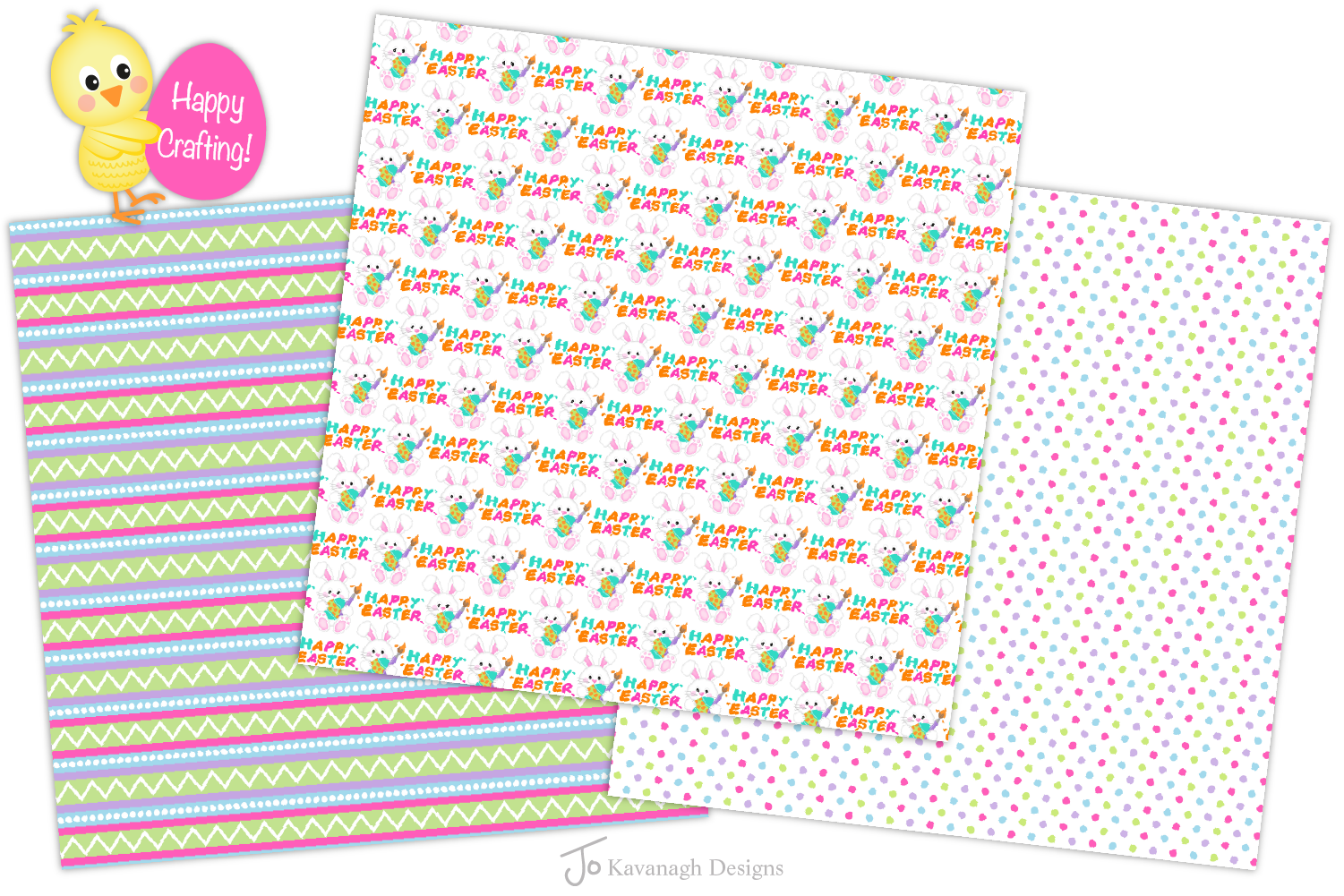 easter bunny digital paper, Easter seamless patterns -P38 example image 5