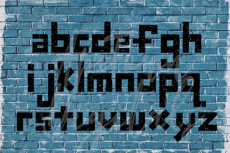 Grunge Font, Distressed Font, Sport Font, Athletic font example image 2