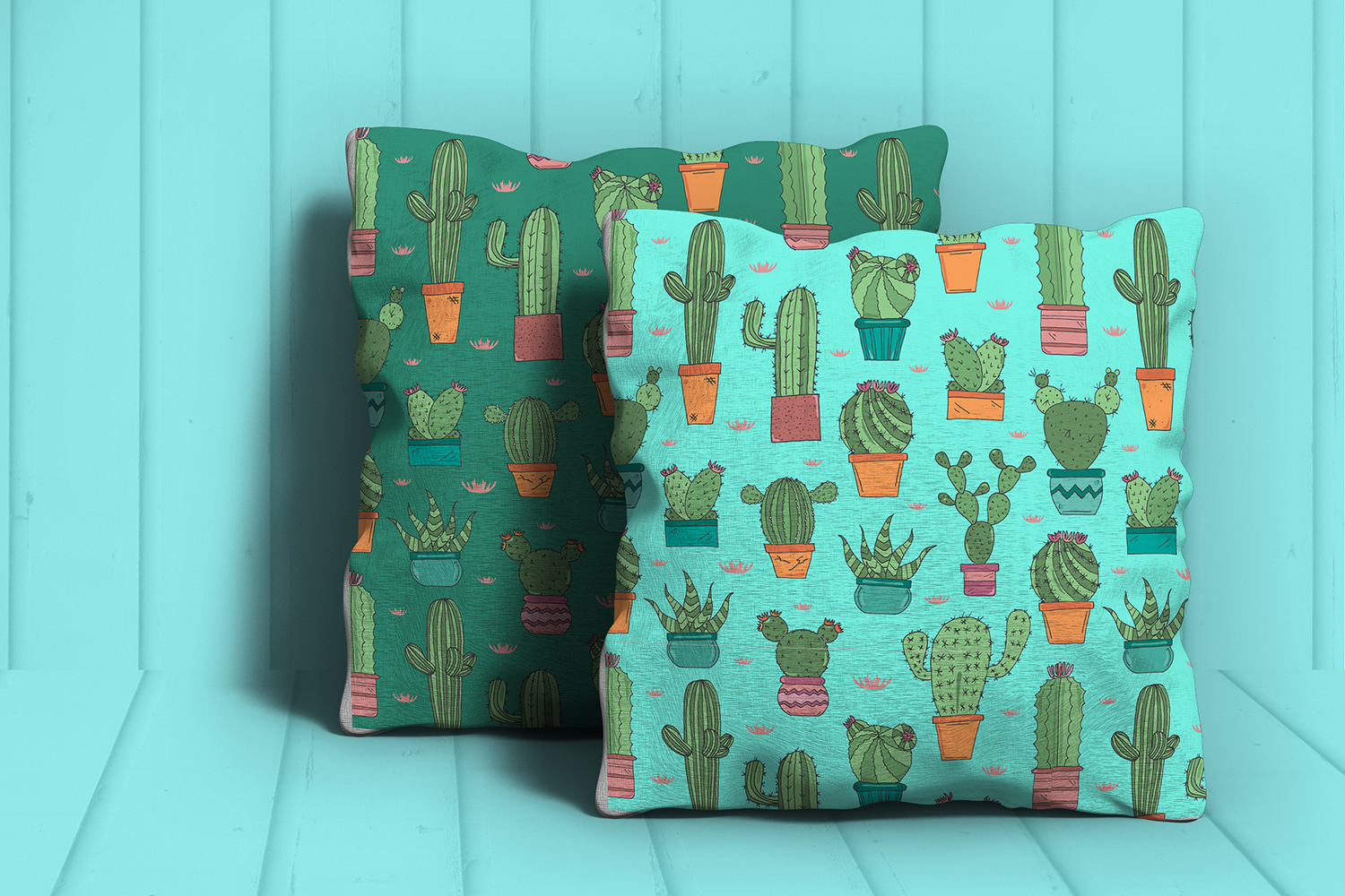 Hand Drawn Cactus Clipart Illustrations and Patterns Bundle example image 5
