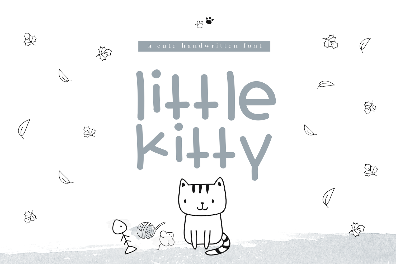 Little Kitty - A Fun Handwritten Font example image 1