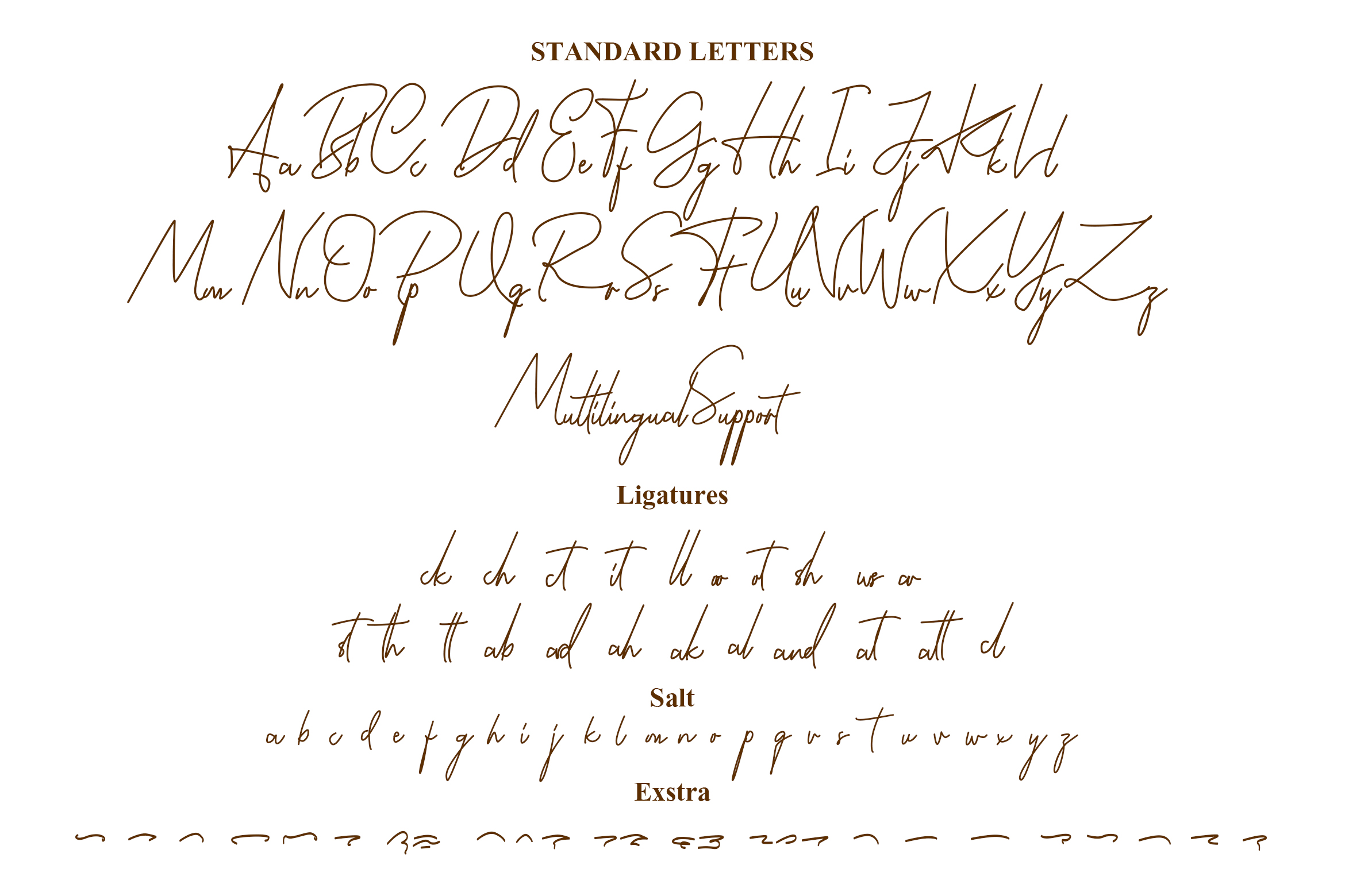 Aamballam -/ Signature Fonts example image 9