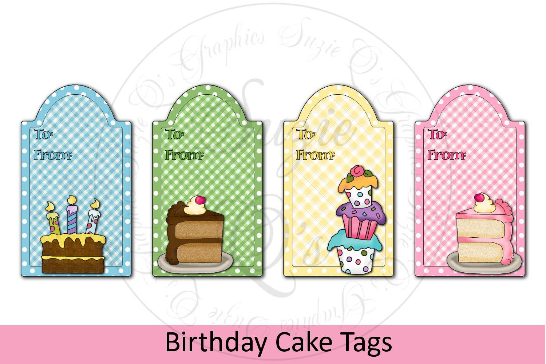 Birthday Cake Tags example image 1