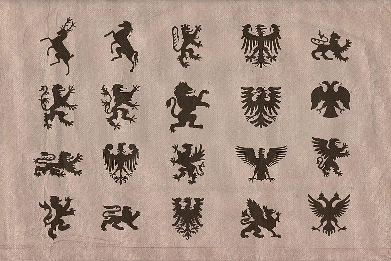 Vintage shapes - Heraldry Symbols 2 example image 2