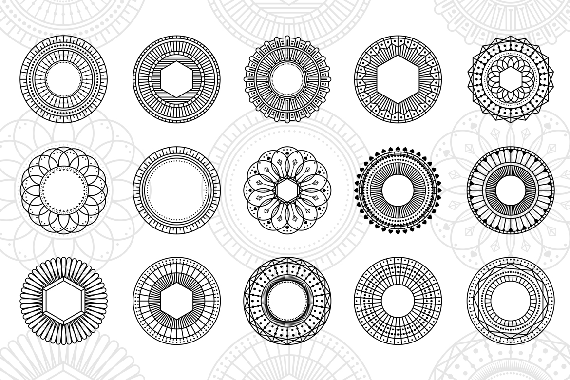 100 Geometric Vector Shapes CSH example image 2