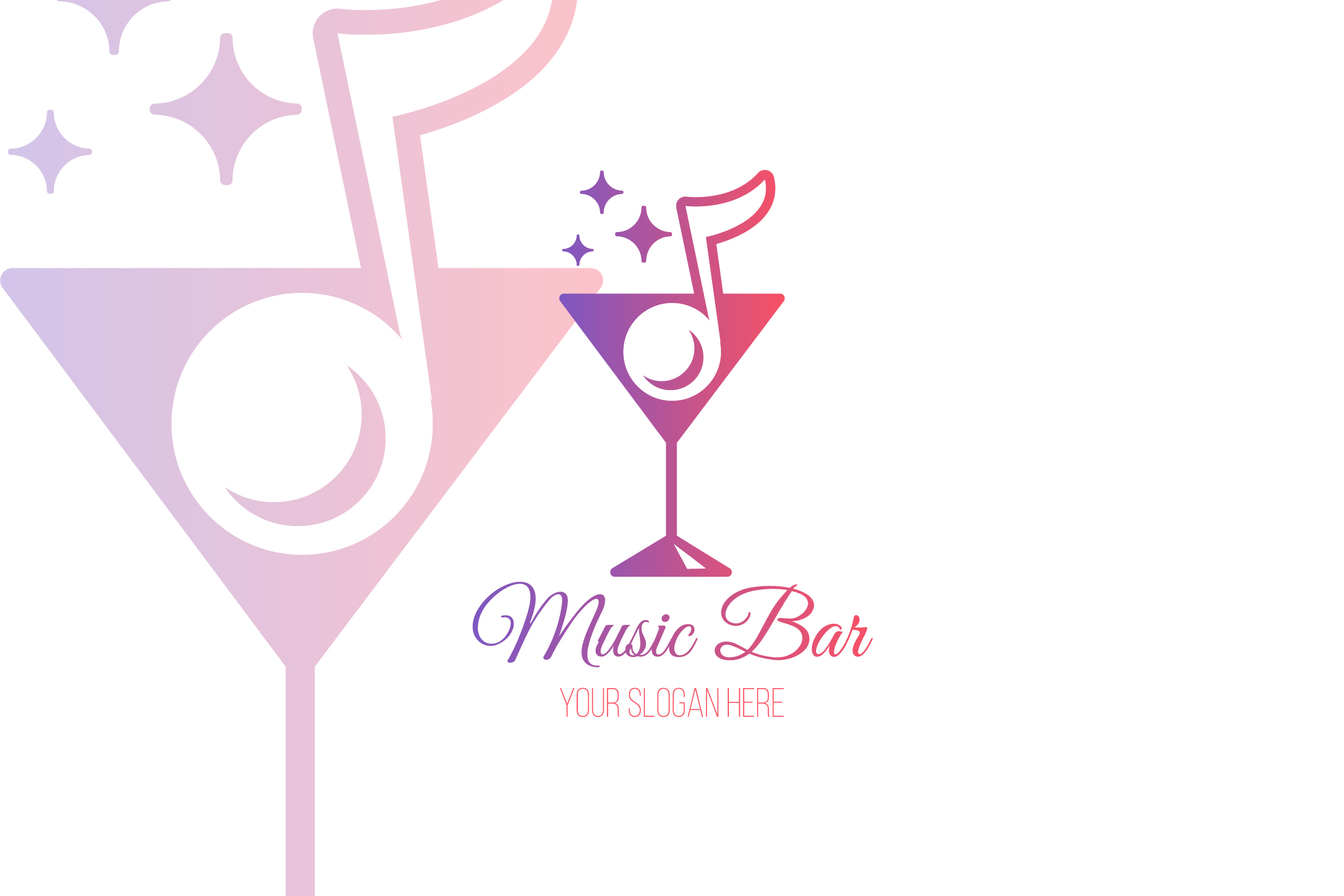 Music Bar Logo Template example image 1