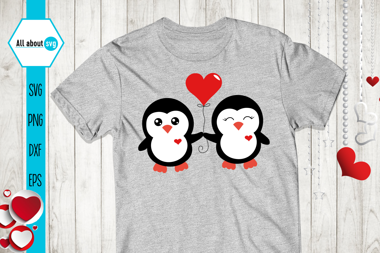Valentine's Penguins Bundle Svg example image 3