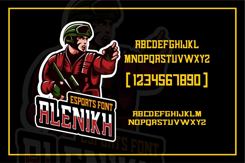 Alenikh Esports Font Logo example image 3