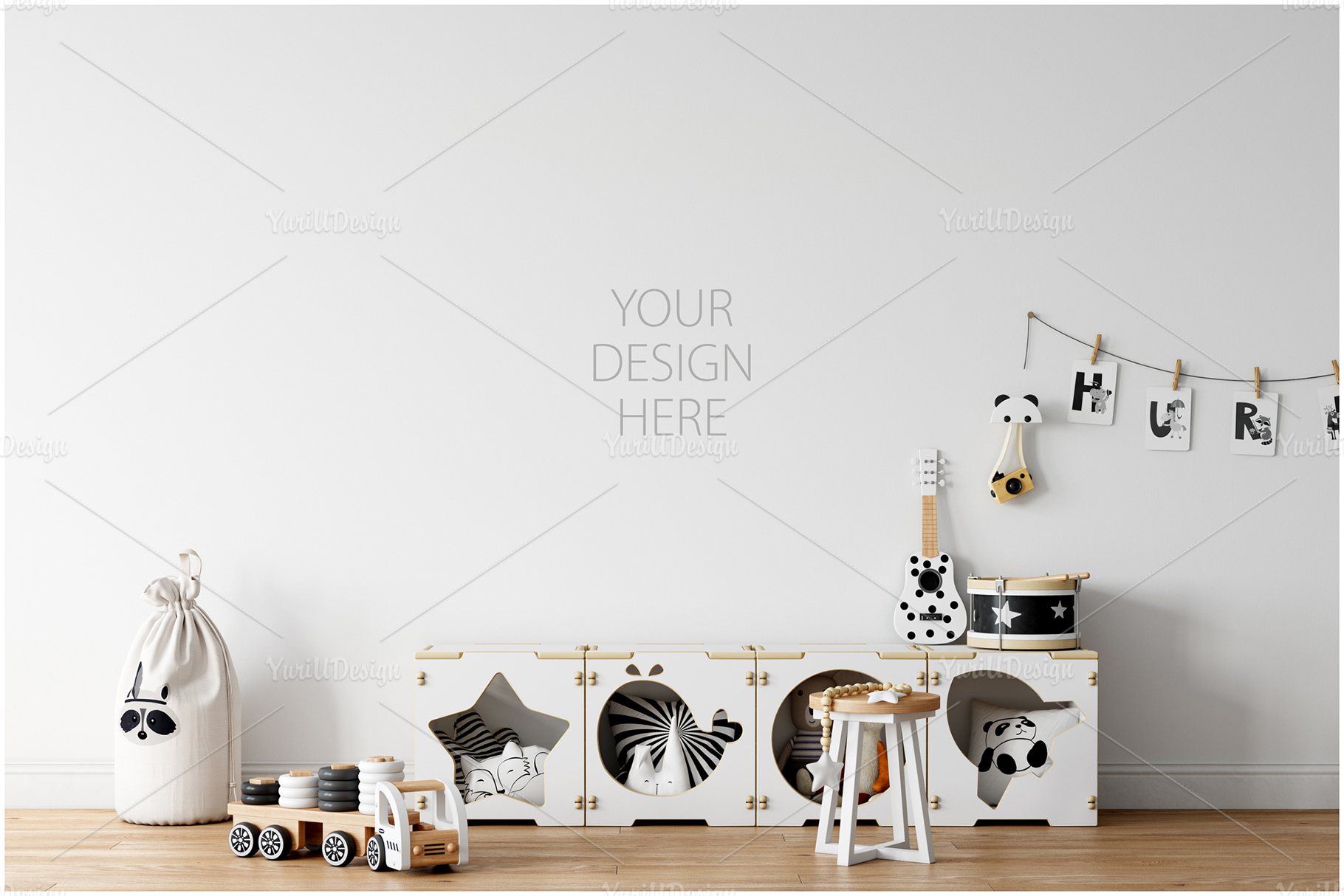 Kids Frames & Wall Mockup Bundle - 5 example image 15