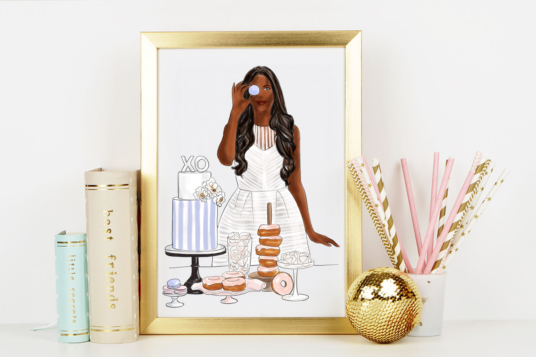 Fashion illustration - Baker Girl - Dark Skin example image 6