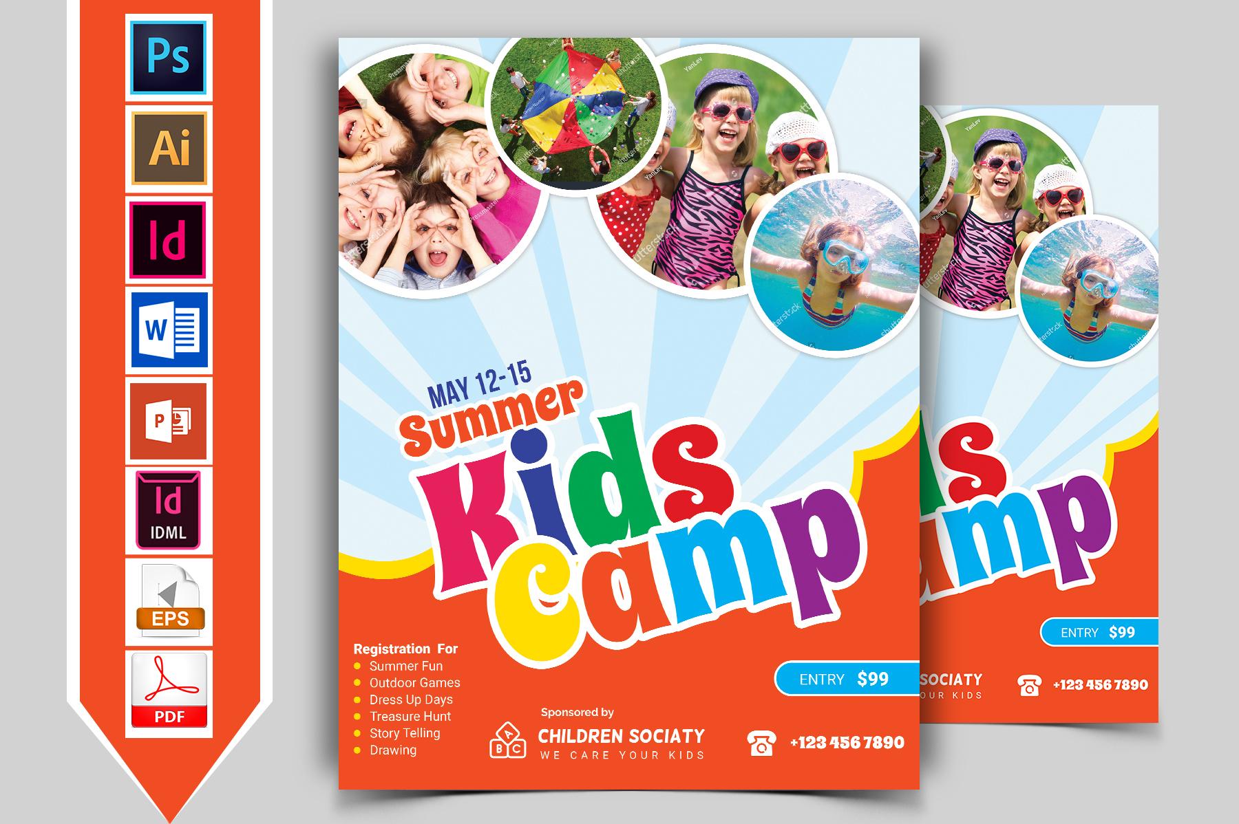 Kids Summer Camp Flyer Vol-02 example image 1