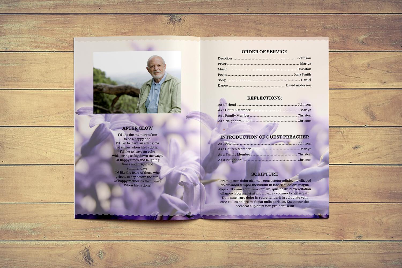 Levendar Funeral Program Template example image 5