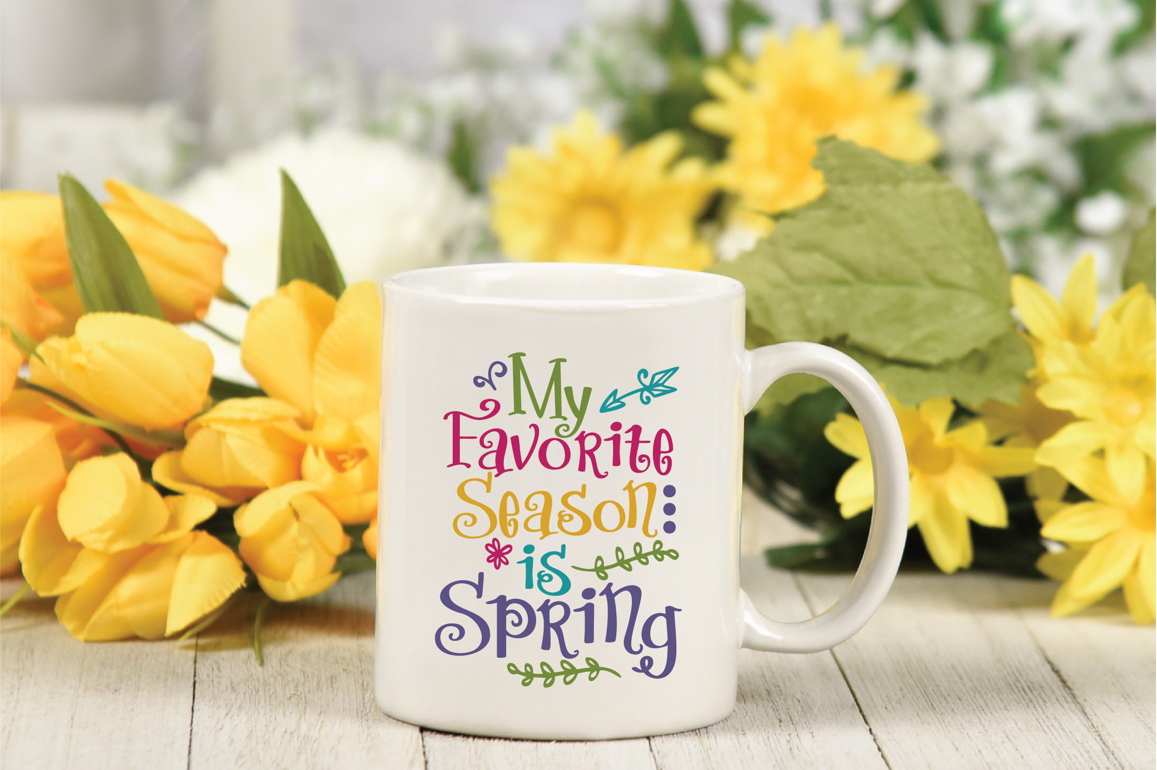 My Favorite Season is Spring SVG Cut File - Spring SVG DXF example image 3