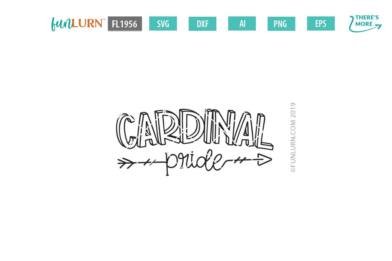 Cardinal Pride Team SVG Cut File example image 2