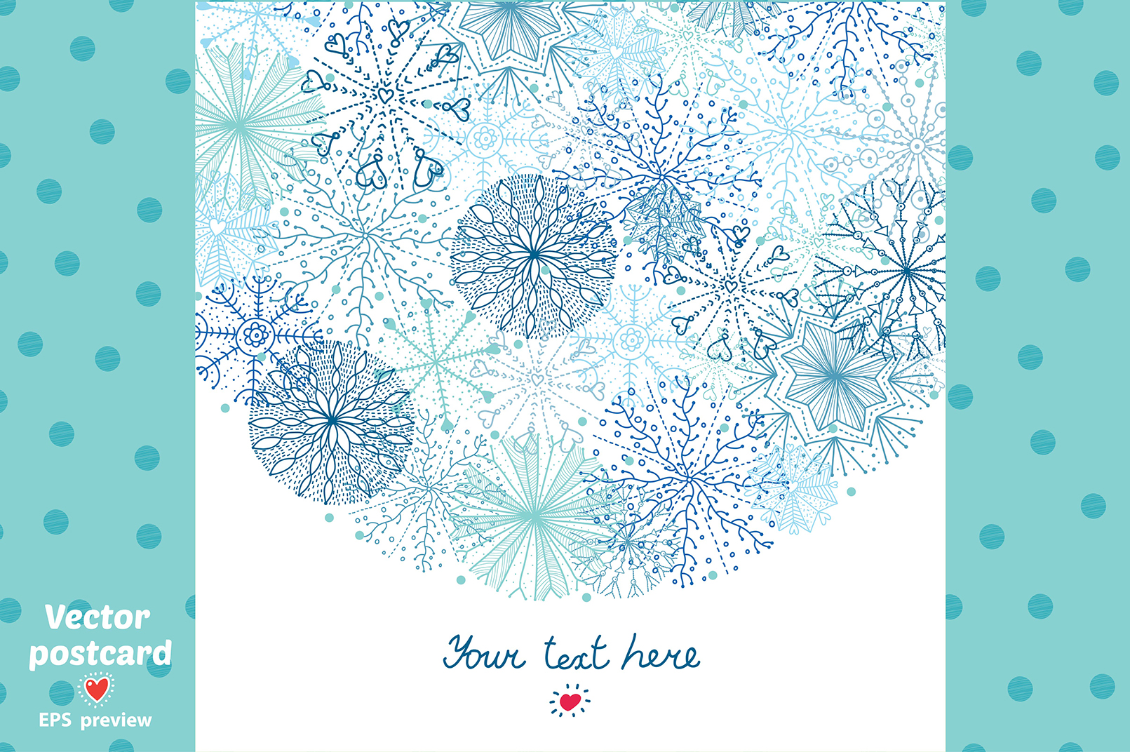 Snowflakes.Winter pattern. example image 10