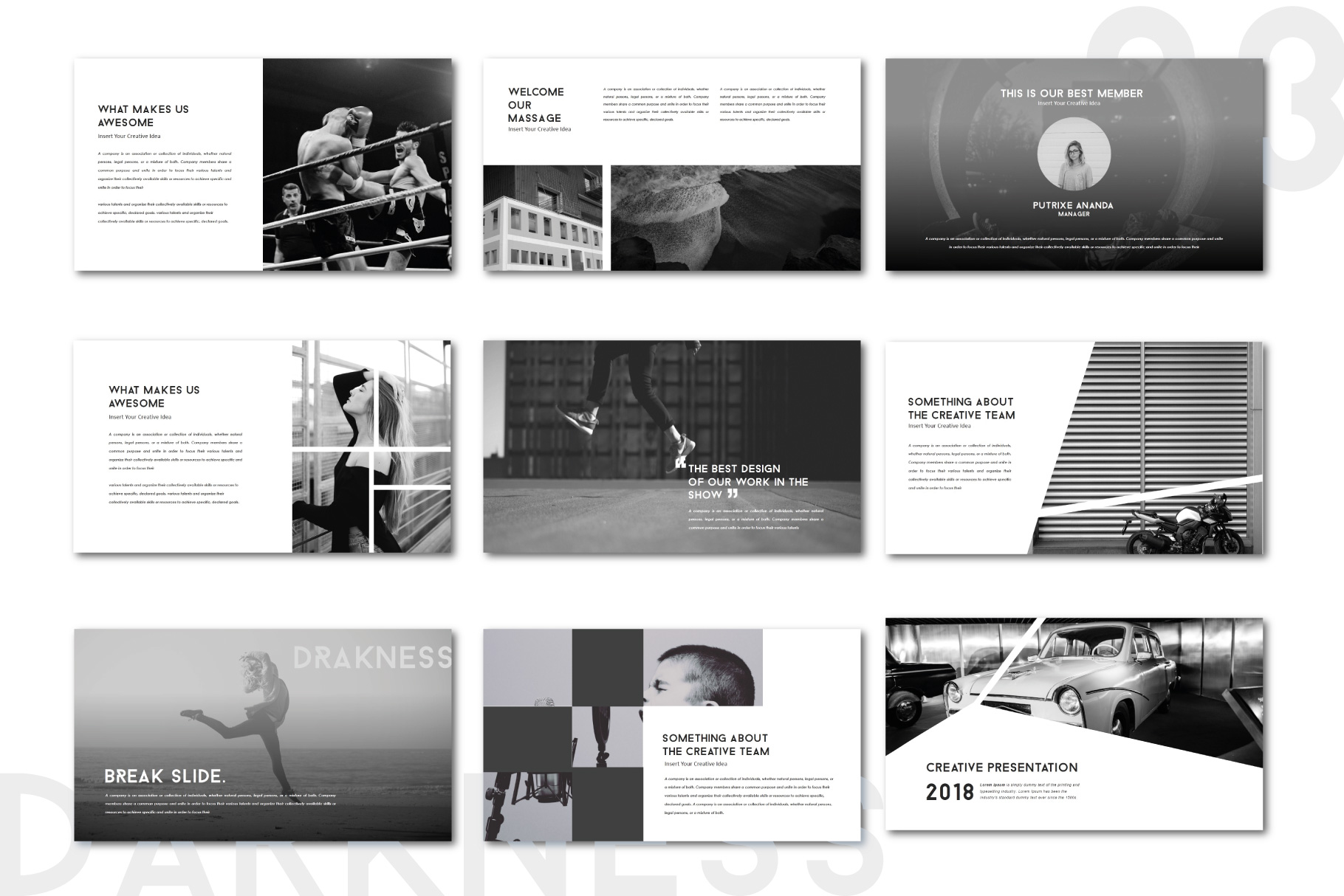 Darkness Multipurpose PowerPoint Templates example image 3