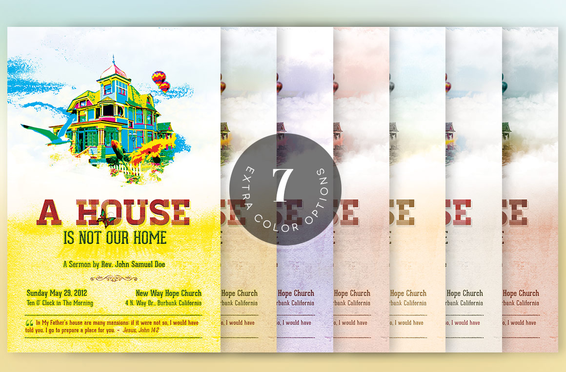 Our Home Church Flyer Template example image 6