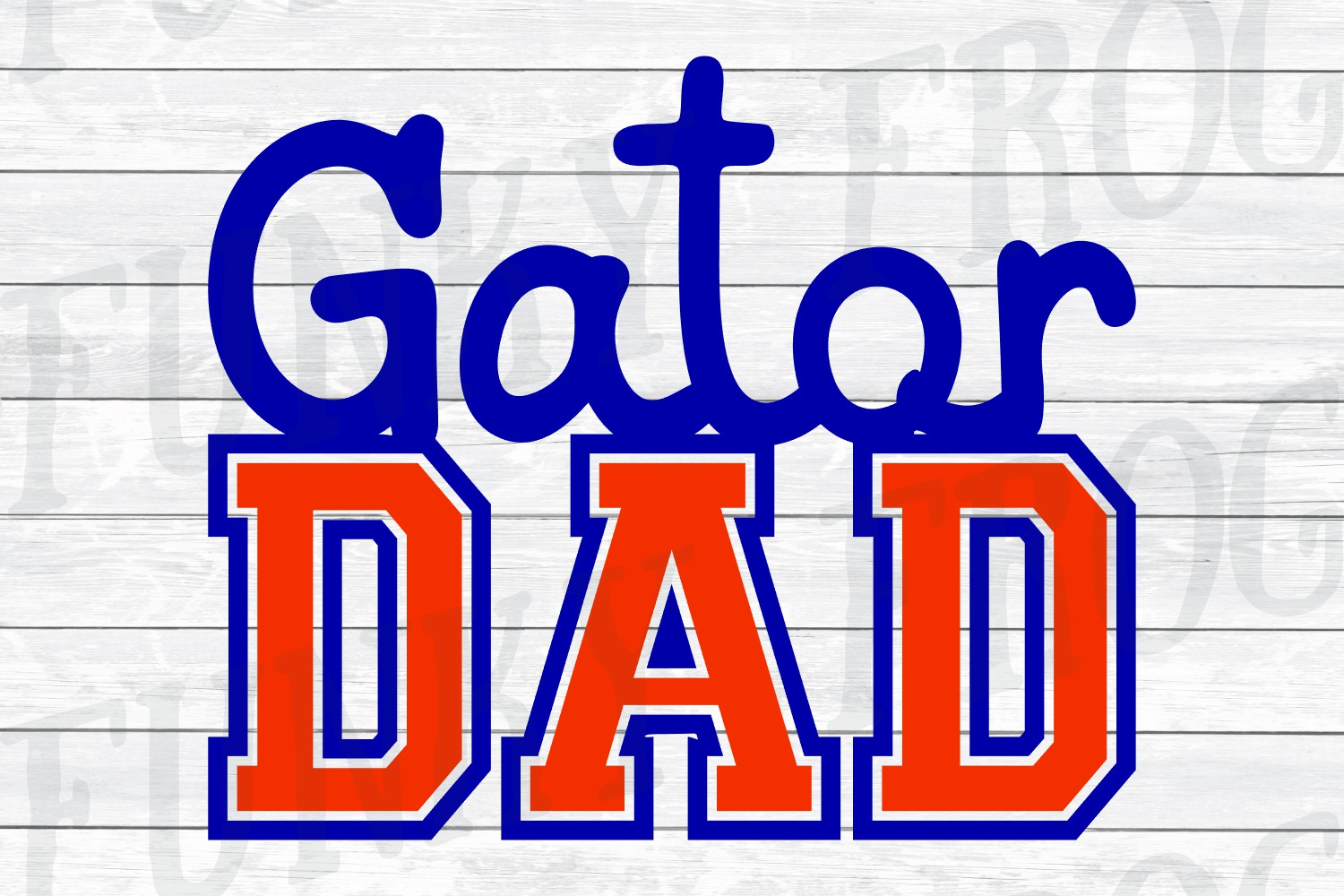 Gator Dad and Gator Mom SVG Cut File for Crafters example image 3