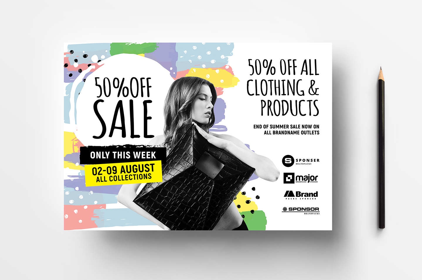 A4 Grand Sale Advertisement Templates example image 2