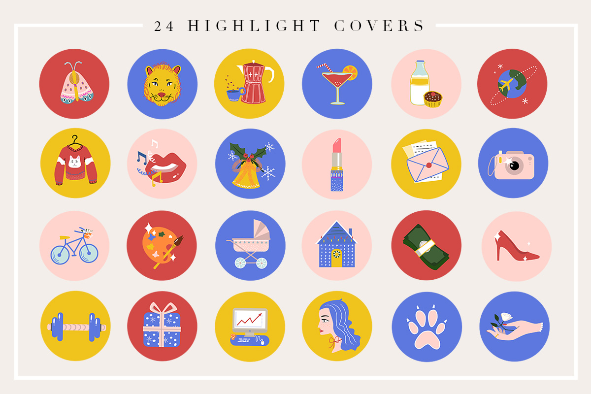 24 Cartoon Highlight Icon Set example image 2