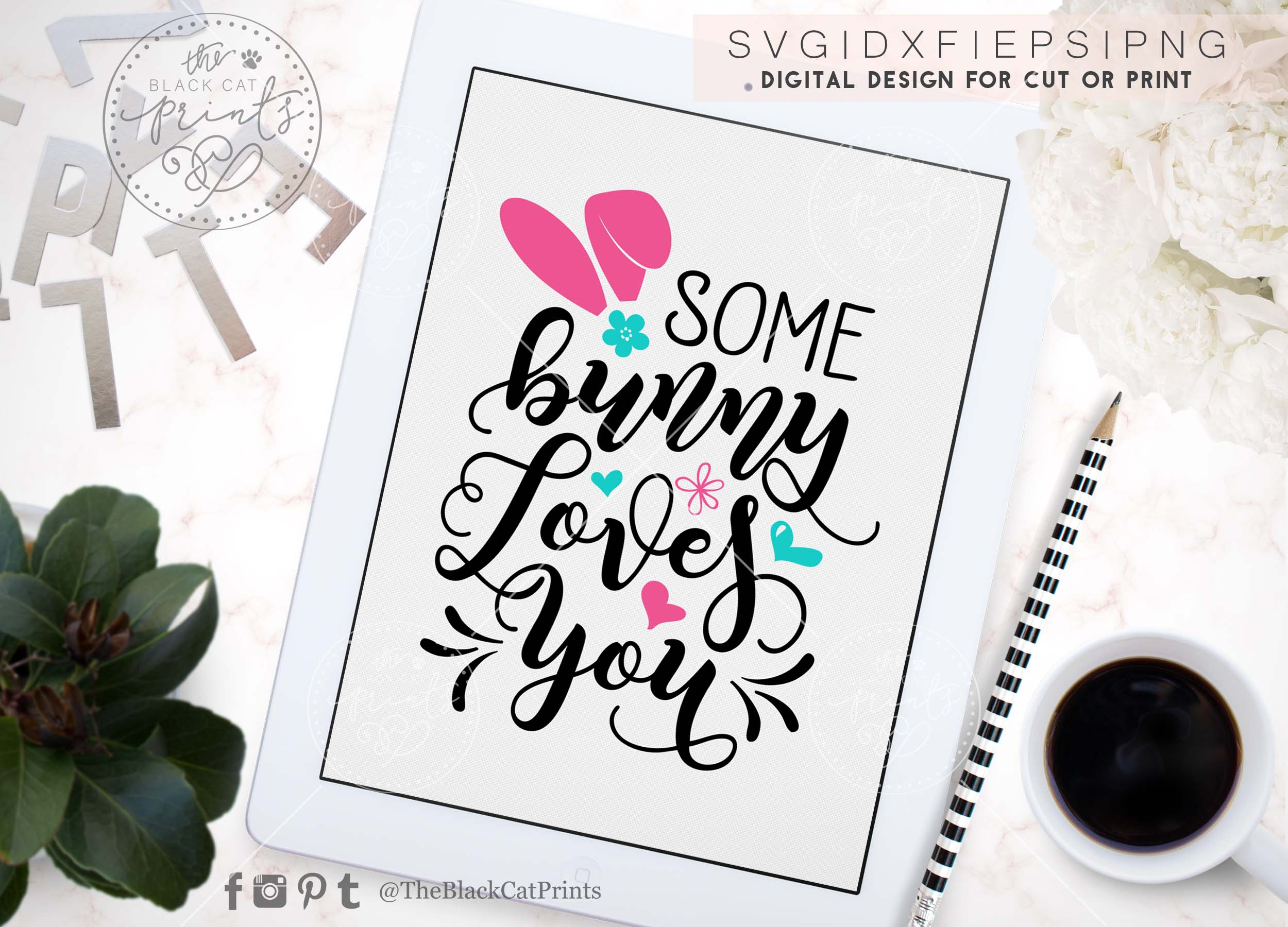 Some bunny loves you SVG DXF PNG EPS example image 4