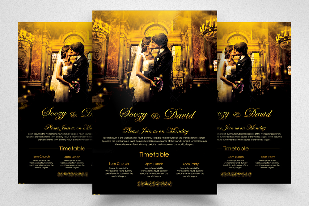 6 Wedding Invitaion Flyer Template example image 3
