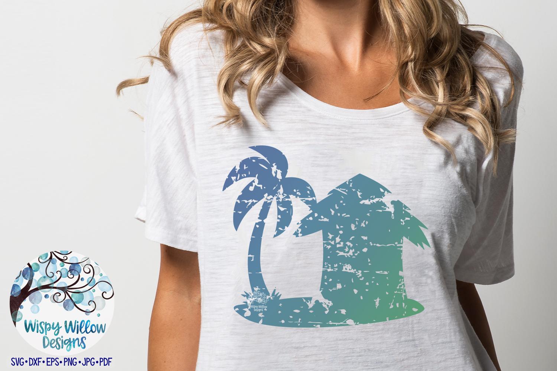 Distressed Beach Hut SVG | Grunge | Summer SVG Cut File example image 2