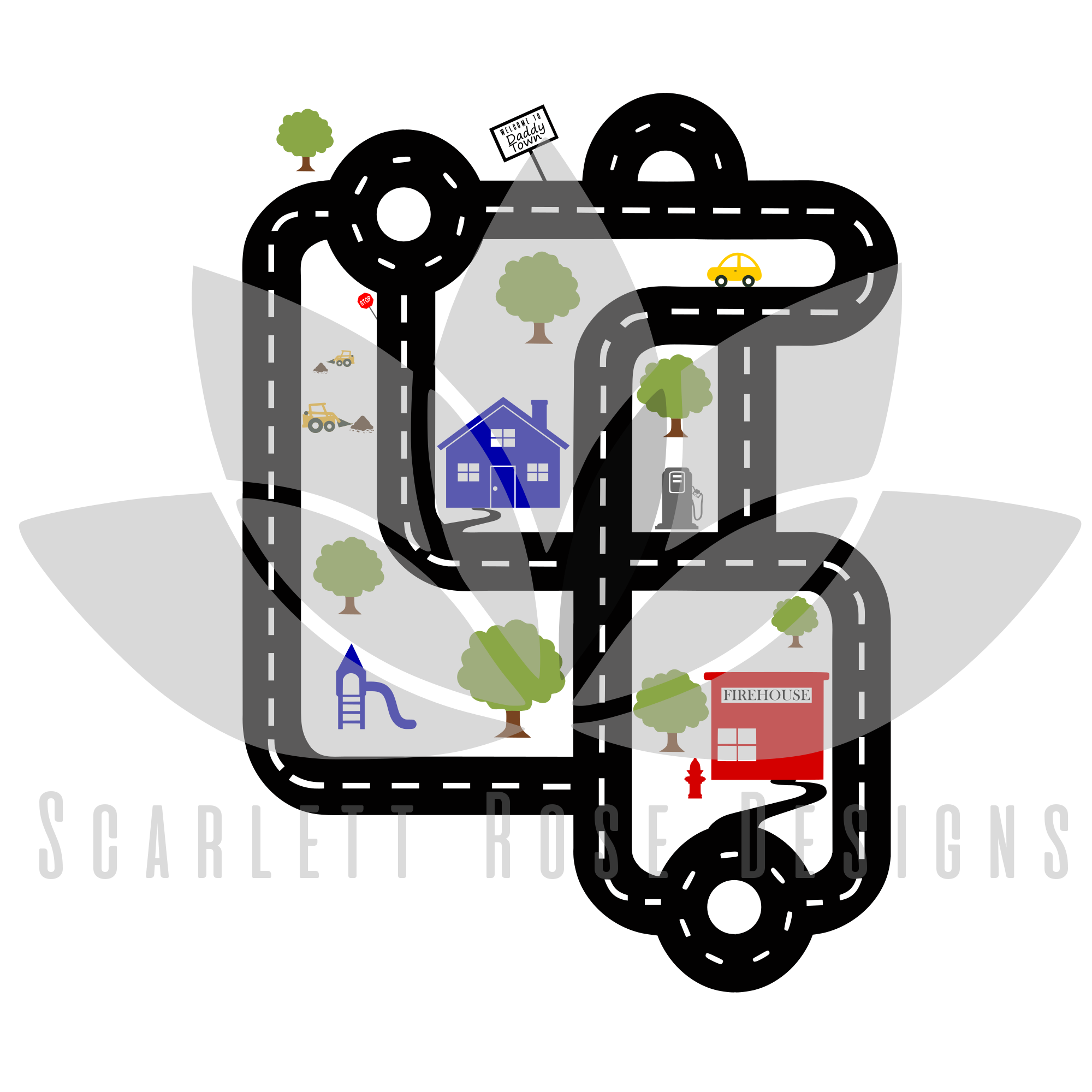 Road Map Track SVG - Father's Day SVG example image 2