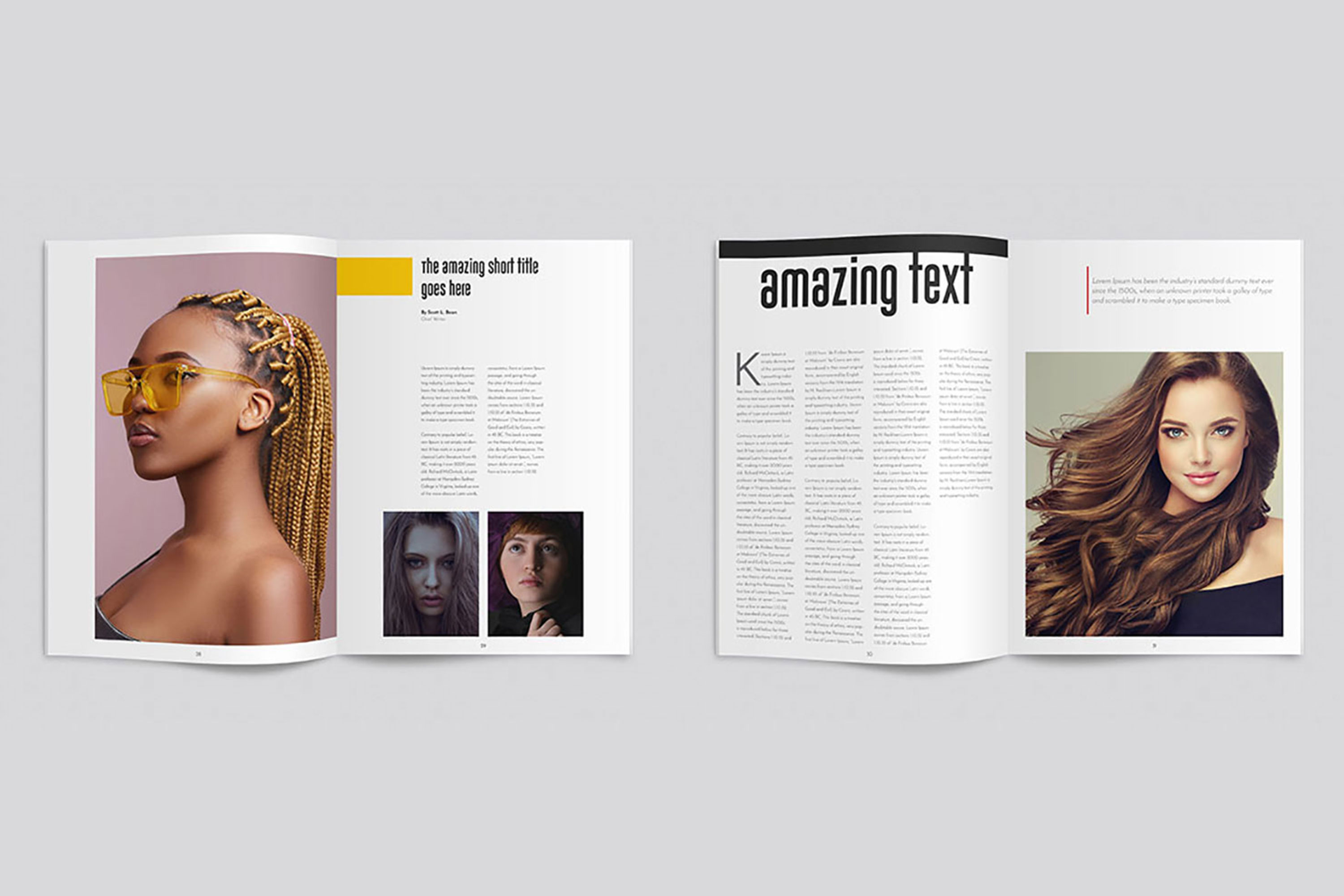 InDesign Multiple Magazine Layout example image 6