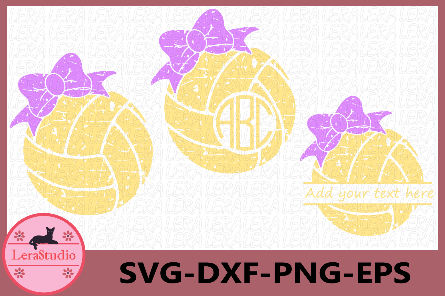Volleyball files, Volleyball Grunge SVG, Sport Ball Monogram example image 1