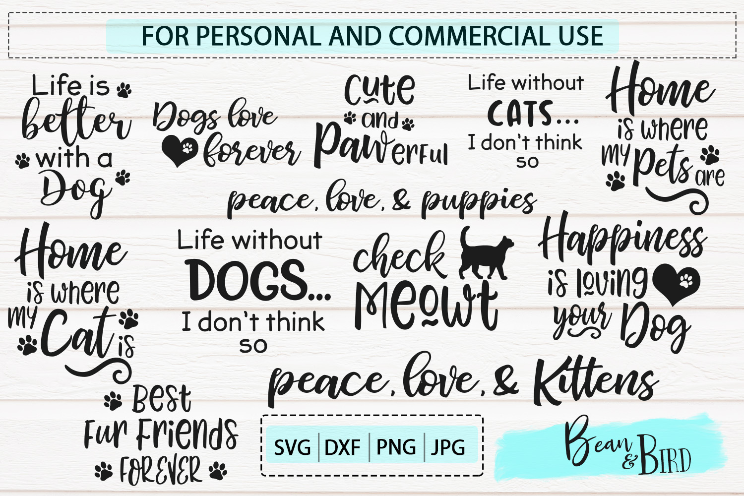 Pet Love Bundle 20 Pet Svg Designs example image 2