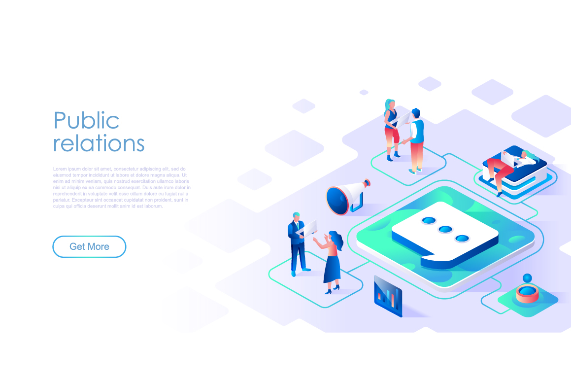 Bundle Isometric Landing Page Template Header example image 26