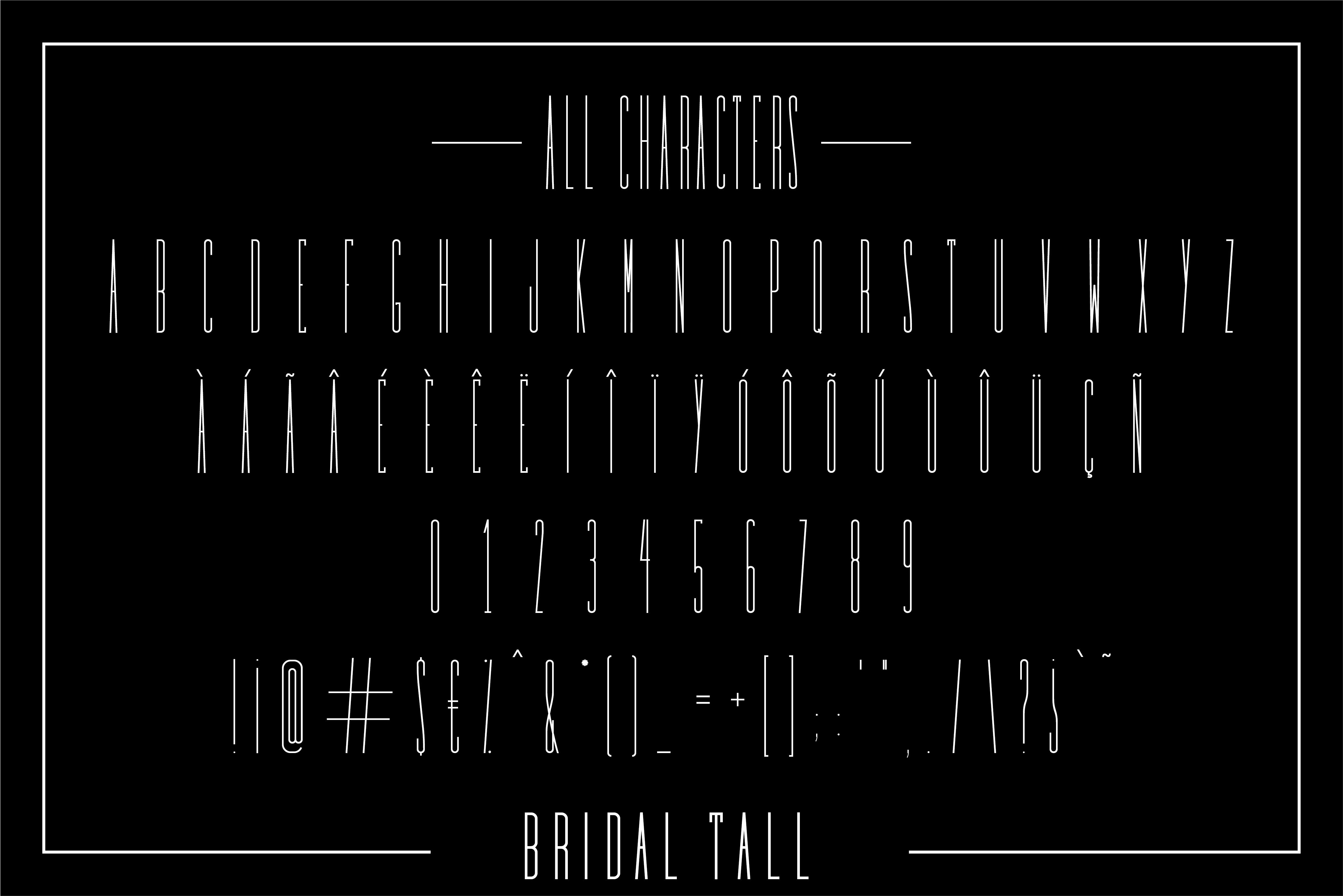 Bridal - Sans Serif Font Family example image 9