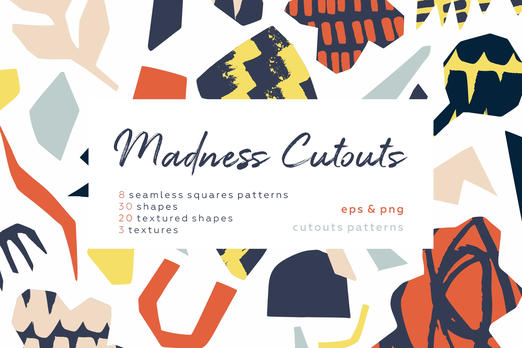 Madness cutouts. Patterns & shapes. example image 1