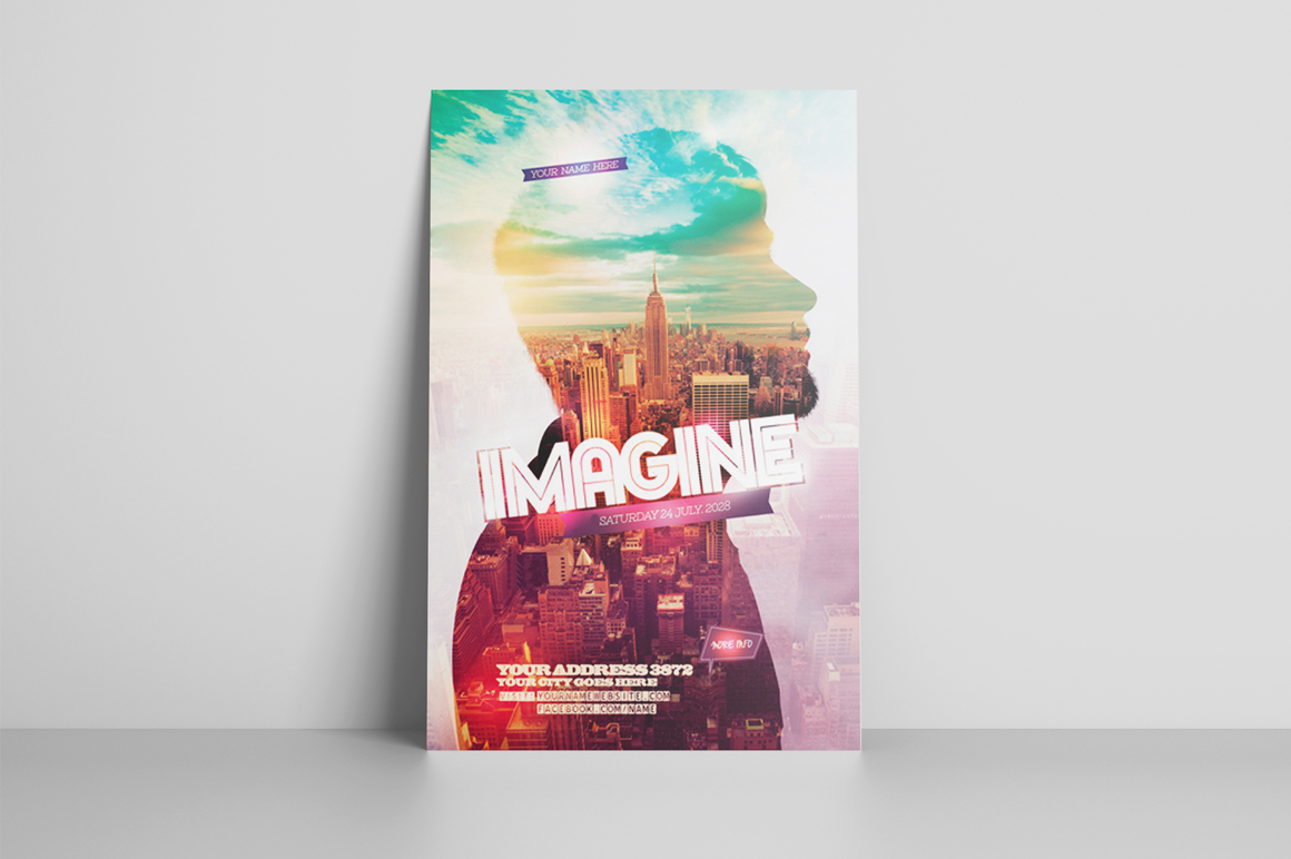Imagine Flyer Template example image 2