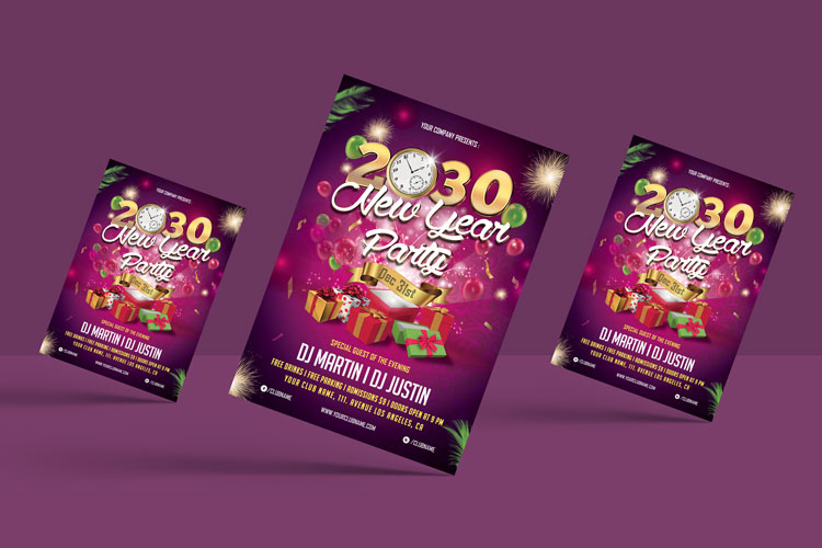 NEW YEAR PARTY FLYER 1 example image 5