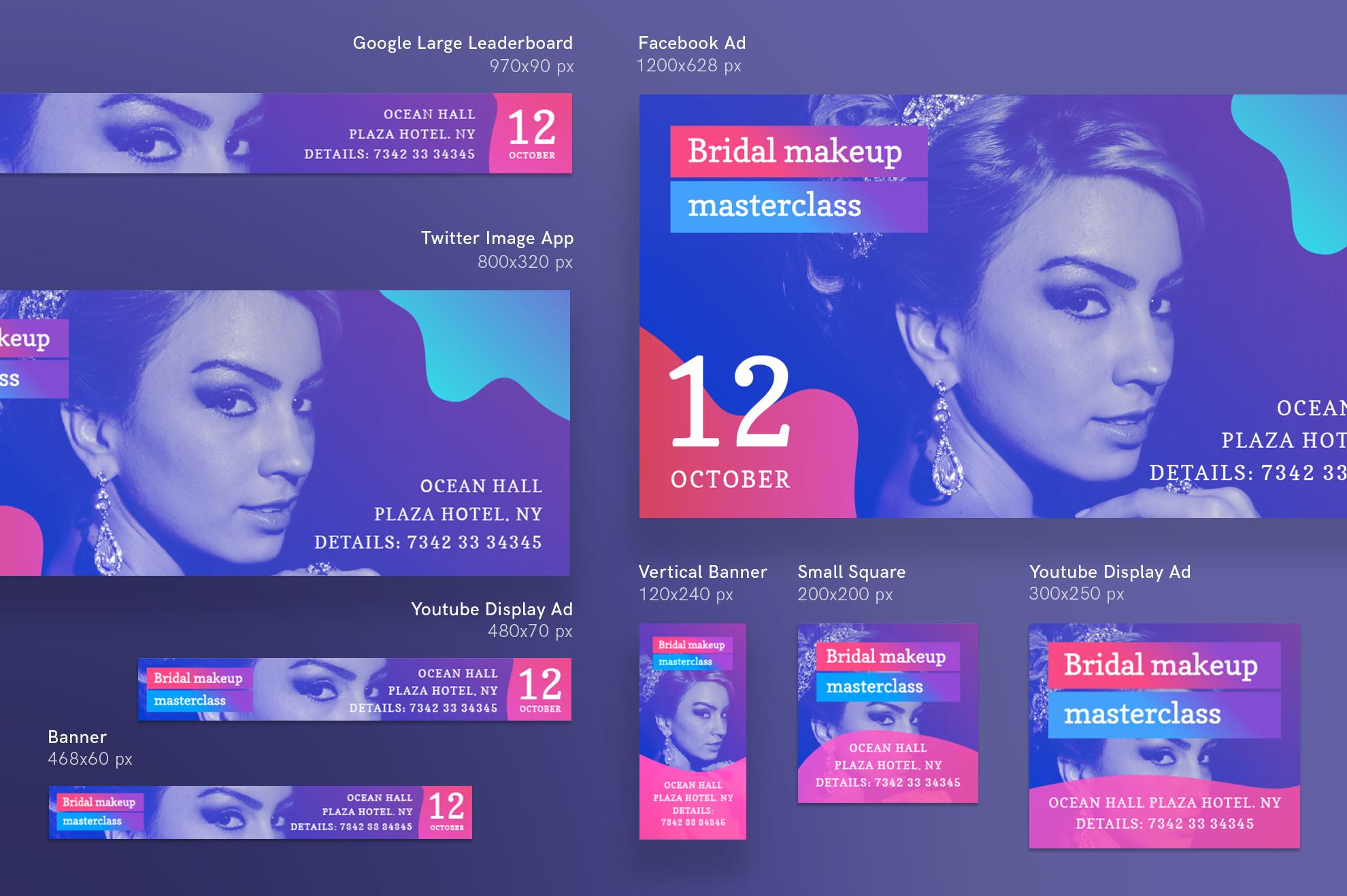 Bridal Makeup Masterclass Workout Design Templates Bundle example image 12