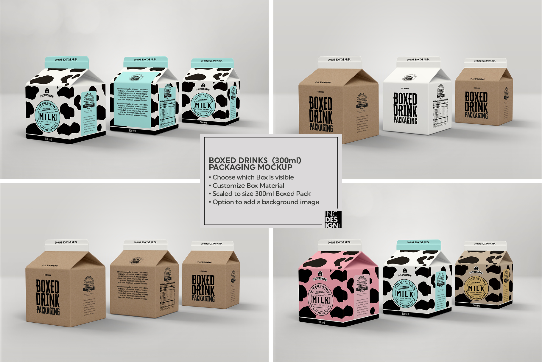 Boxed Drink Liquid Packaging Mockups example image 8