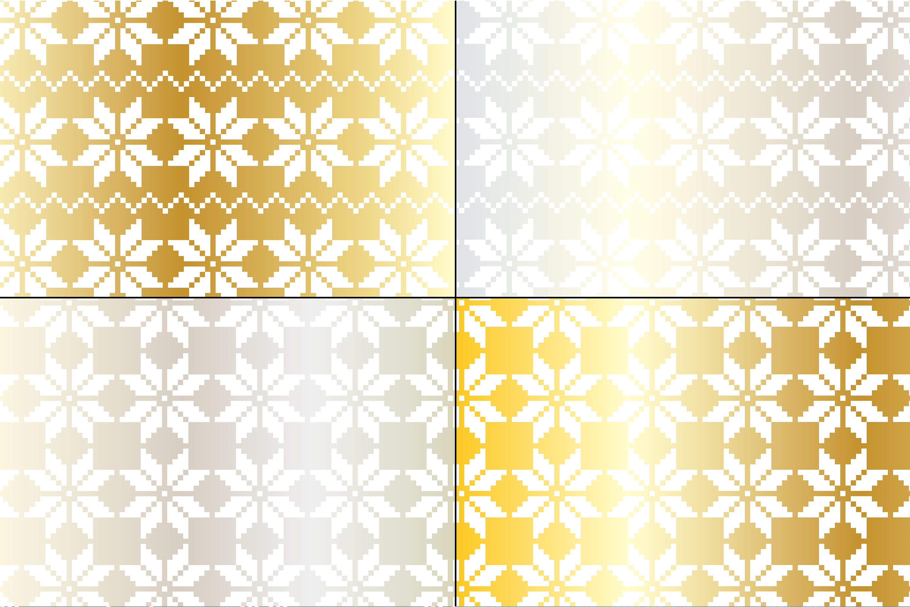 Silver & Gold Nordic Patterns example image 2