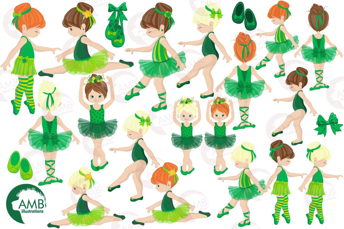 Irish dancers, Ballerina clipart, Ballet dancers in green, graphics and illustrations AMB-1588 example image 2