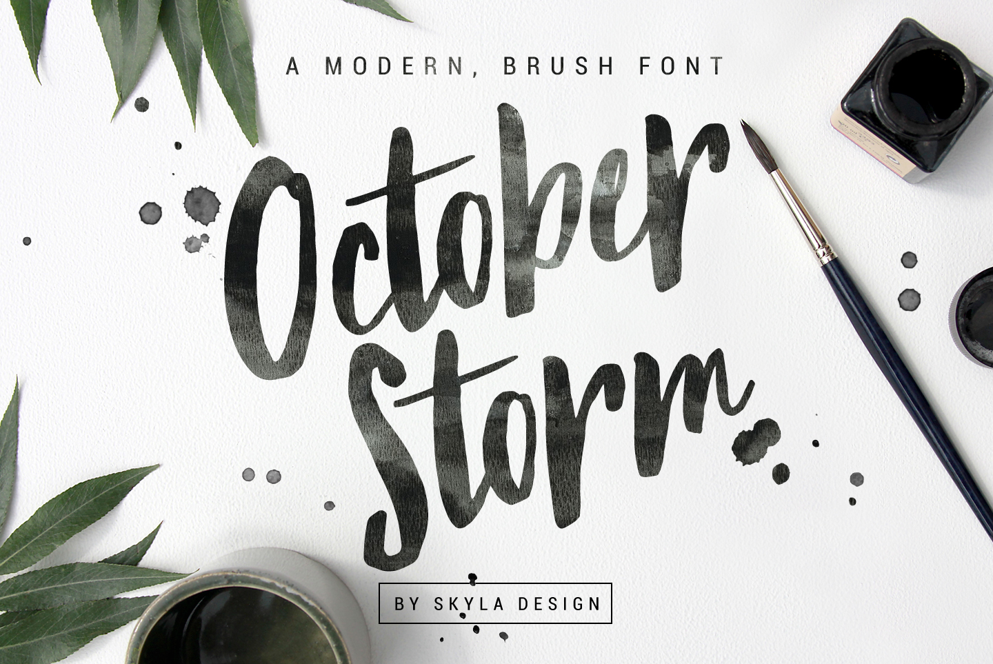 Modern brush font - October Storm example image 1