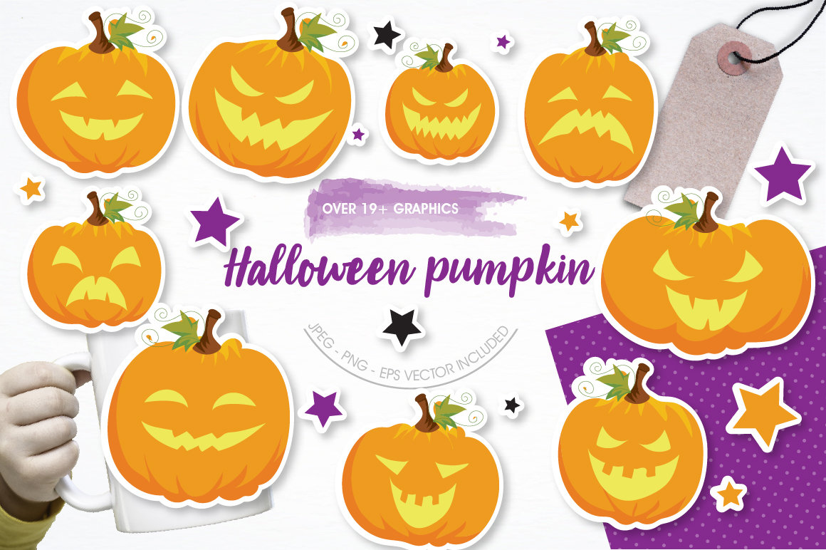 Halloween Pumpkins graphics and illustrations example image 1