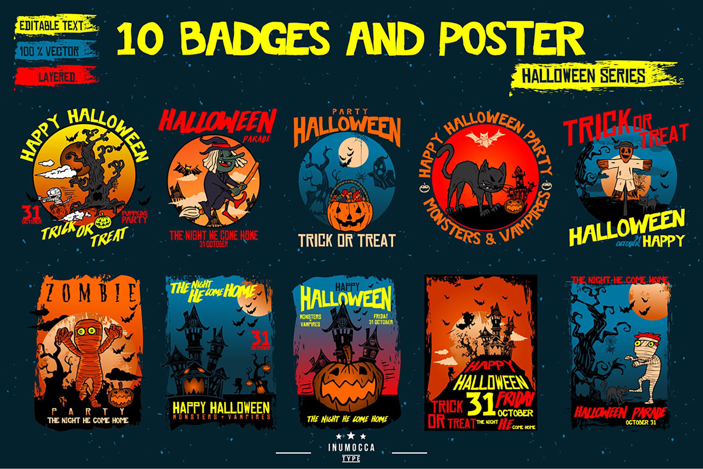 HALLOWEEN bundles SET example image 19