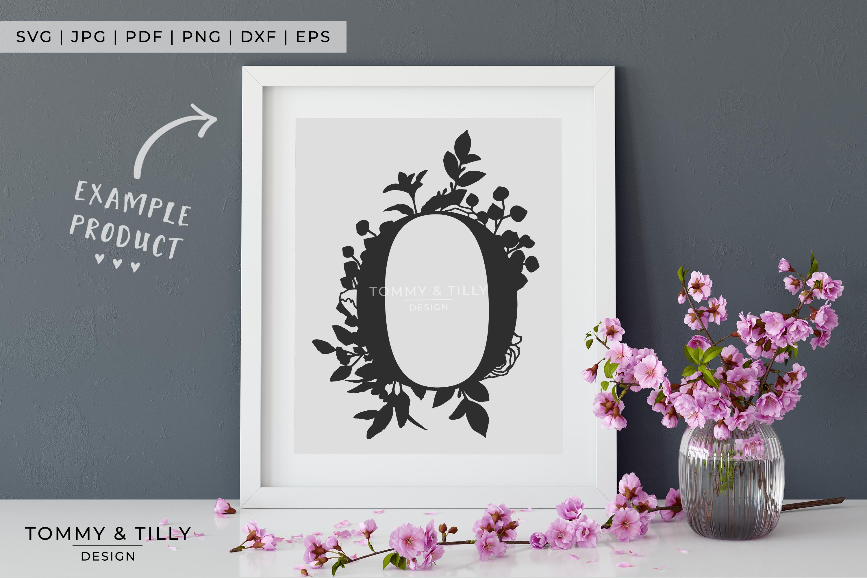 O Bouquet Letter Design - Paper Cut SVG EPS DXF PNG PDF JPG example image 4