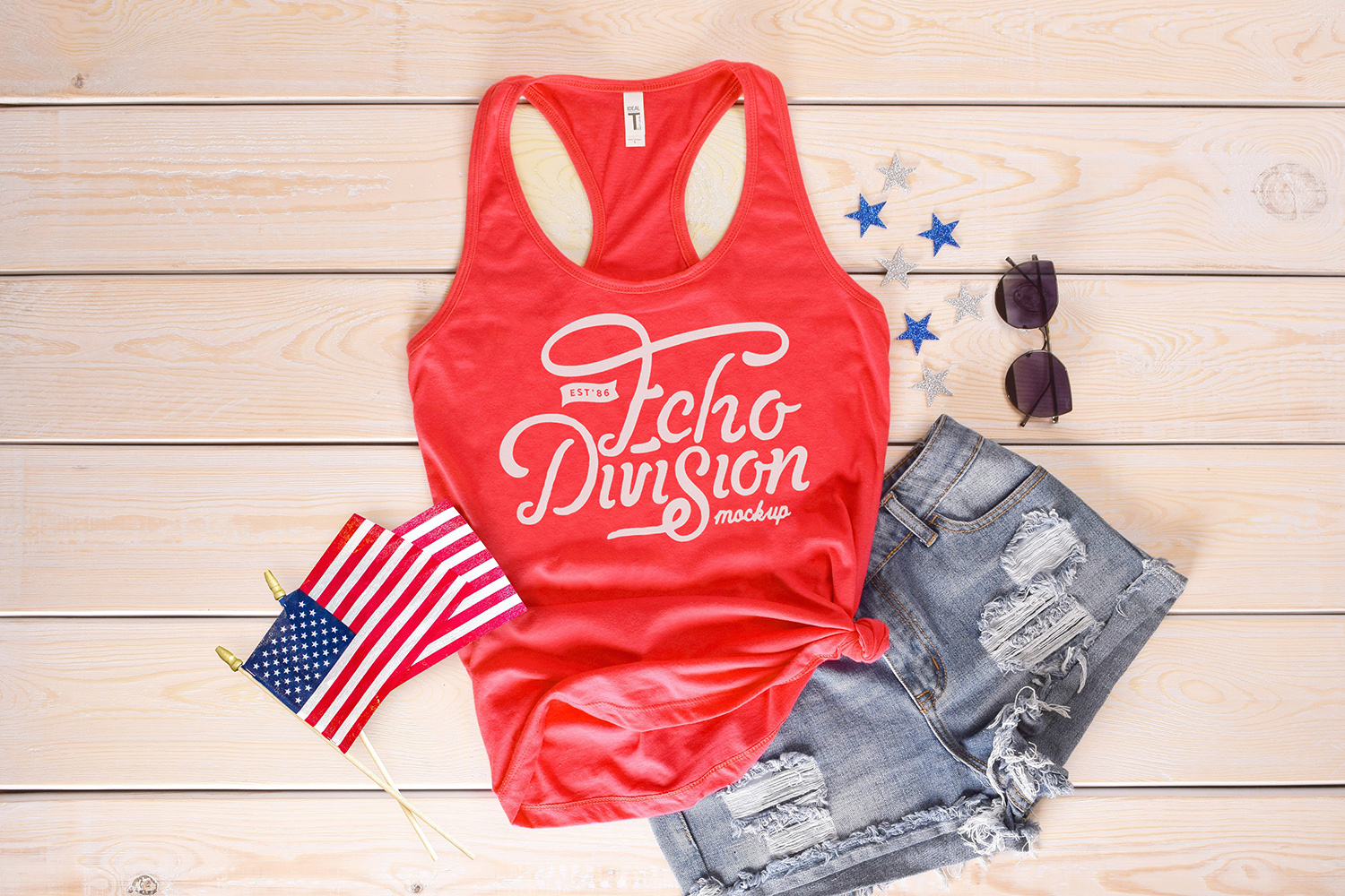 4th Of July - Tank top Mockup - Next Level - 1533 example image 1