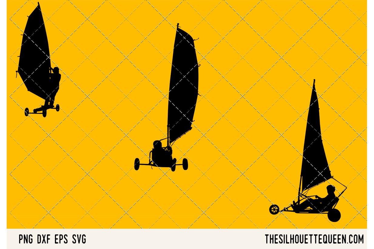 Land Windsurfing SVG example image 1