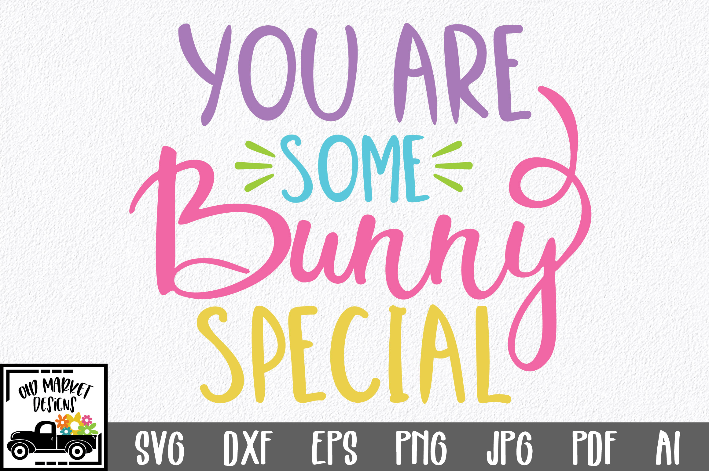 Easter SVG Cut File - You are Some Bunny Special SVG DXF EPS example image 1