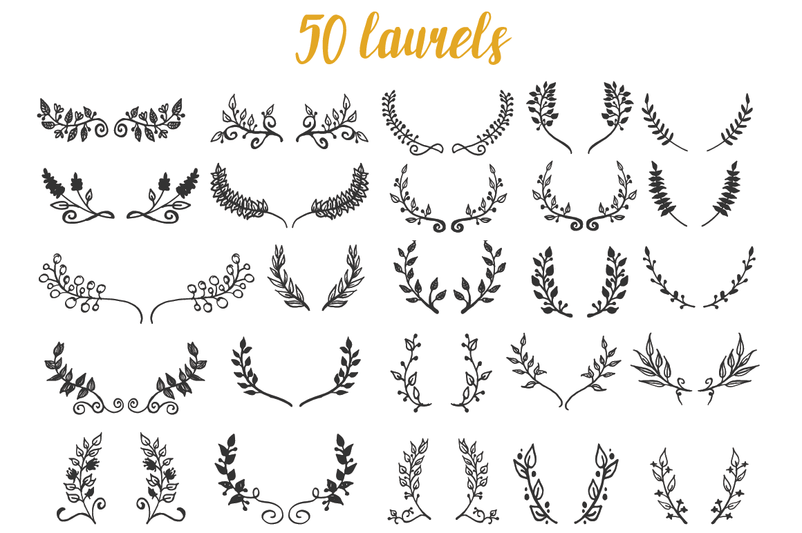 150 Hand-Drawn Floral Illustrations example image 3