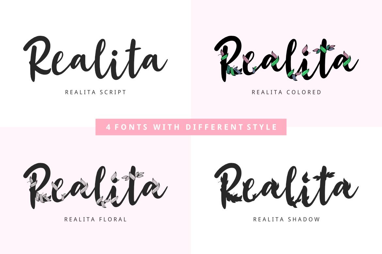 Realita Color Font example image 4