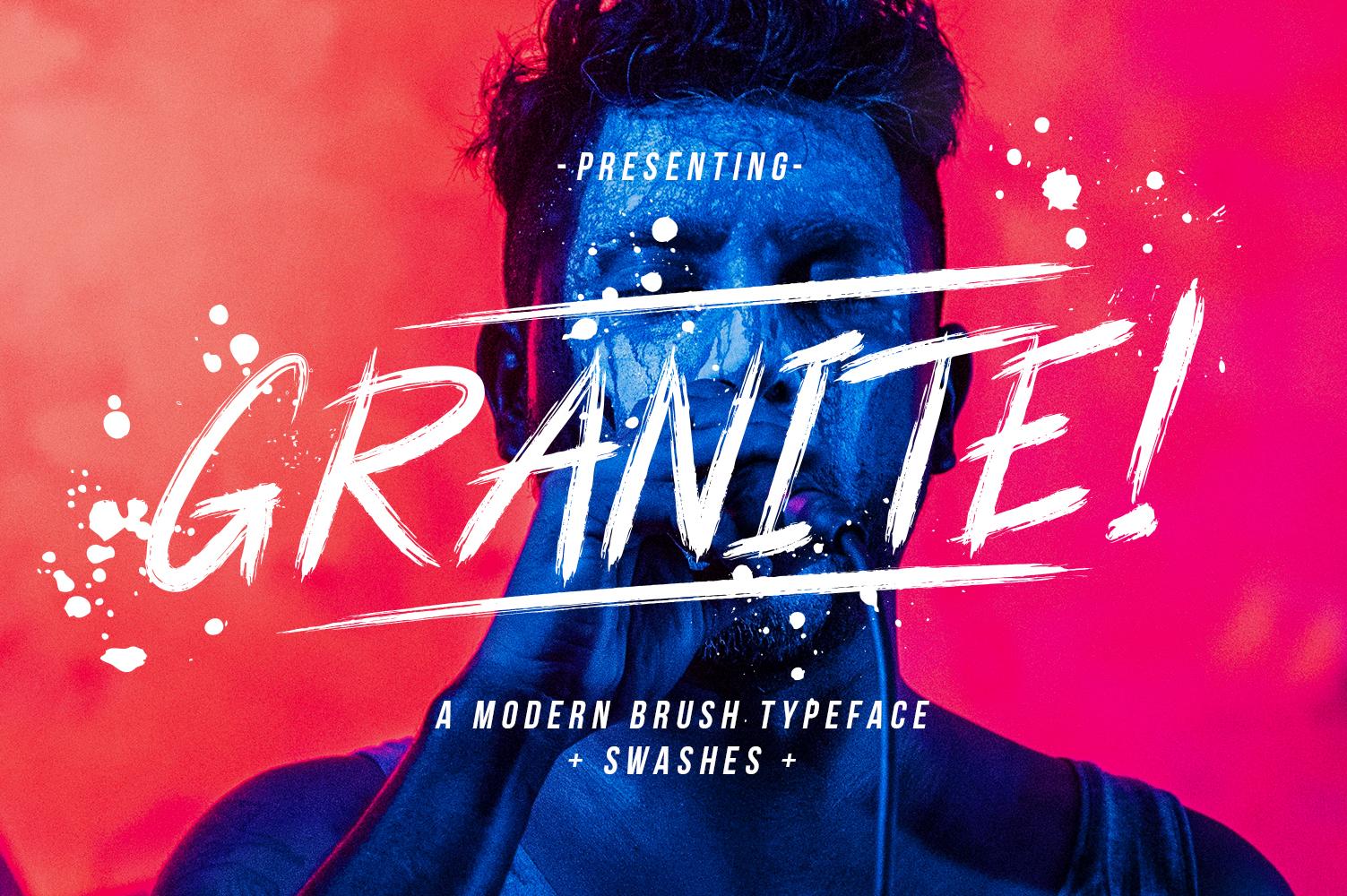 Granite Brush Font example image 1